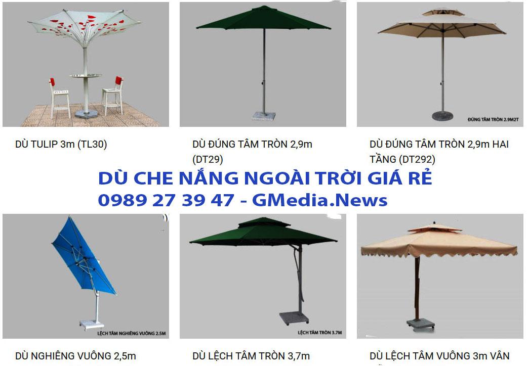 Thanh Lý Dù Che Nắng Ngoài Trời Nha Trang, Bán Ô Dù Lệch Tâm Nha Trang - Chuyên cung cấp dù che nắng ngoài trời - Bãi biển tại Nha Trang