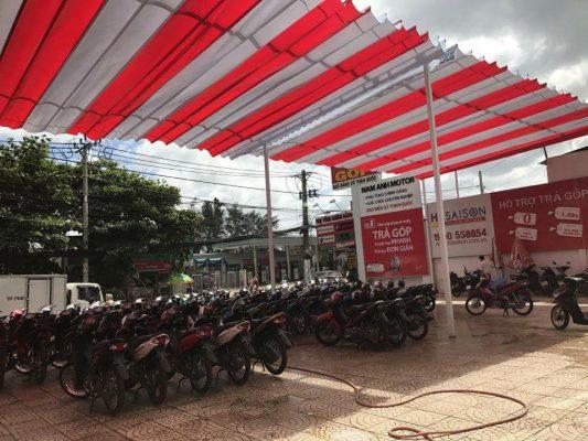 Bạt Che Nắng Mưa Quán Cafe Vĩnh Long, Mái Hiên Di Động Cho Quán Cafe Đẹp